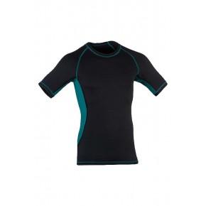 T-shirt laine Bio soie Homme noir bleu