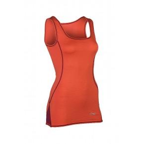 Debardeur laine Bio soie Femme orange