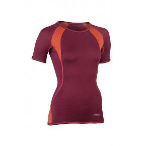 T-shirt sport laine Bio Femme bicolore