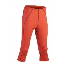Leggings Bio laine soie Femme orange