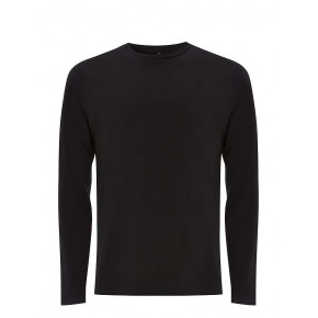 T-shirt homme à manches longues noir