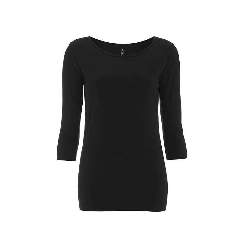 ab57d56ea96 T-shirt femme en coton biologique noir ou blanc du S au XL