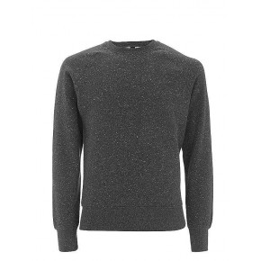 Sweater homme en coton BIO noir chiné