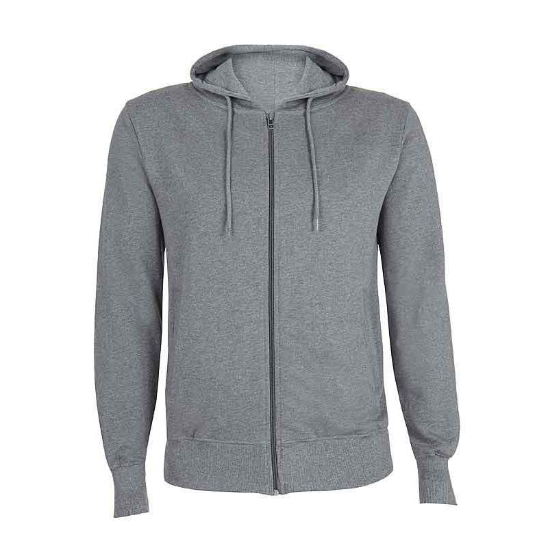 Sweat zippé à capuche en coton Bio pour homme fd89d3153a34