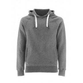 Sweat à capuche en coton Bio fleece grey Earthpositive