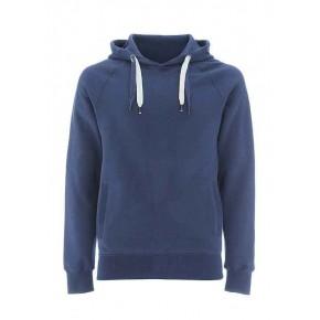 Swrat à capuche en coton Bio fleece blue denim