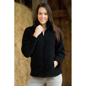 Veste femme en polaire de laine Bio, noire