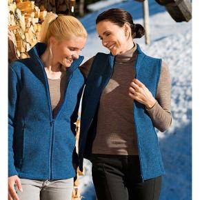 Gilet femme en polaire de laine Bio, bleu
