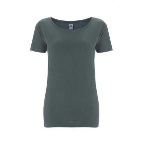 T-shirt Bio femme Max Havelaar gris charbon