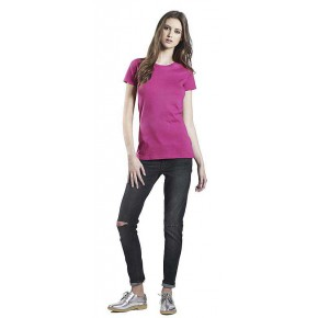 T-shirt Bio femme rose vif