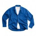Chemise en coton Bio bleu