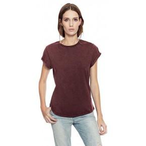 T-shirt EarthPositive femme en coton bio, manches retroussées EP16