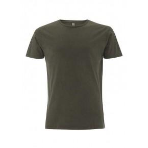 T-shirt garment dyed homme vert-kaki