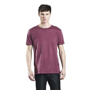 T-shirt garment dyed homme pigment deyed
