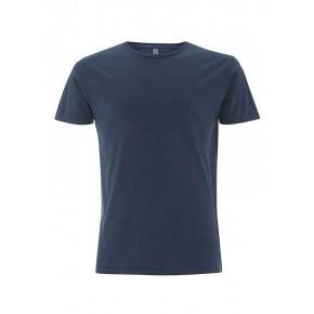 T-shirt garment dyed homme bleu denim