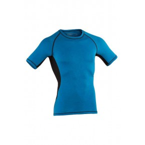 T-shirt laine Bio soie Homme bleu