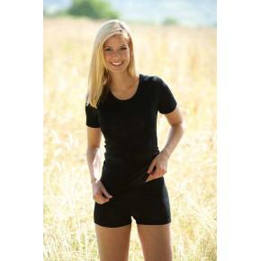 Shorty femme en laine Bio et soie noir