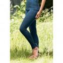 Leggings en laine mérinos femme bleu saphire