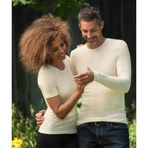 T-shirt homme à manches longues en laine mérinos
