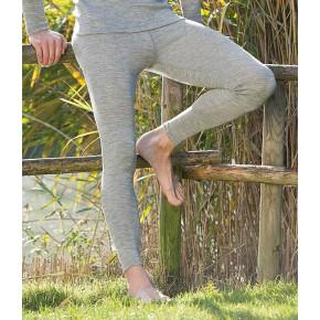 Leggings en laine mérinos gris chiné