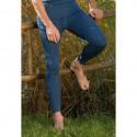 Leggings laine mérinos  bleu saphire