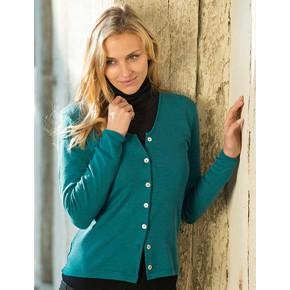 Cardigan Bio femme turquoise