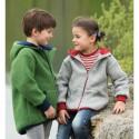Veste enfant à capuche en polaire de laine Bio