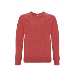 Sweat 100 %  recyclé, rouge, solde