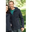 Veste à capuche homme en laine polaire mérinos, noire