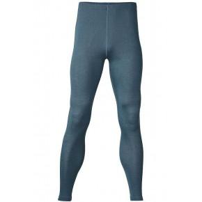 Leggings homme en laine mérinos bleu