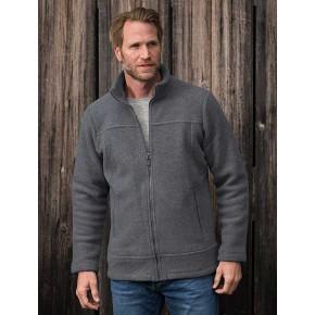 Veste homme en laine mérinos polaire Bio, gris