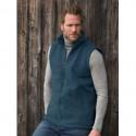 Gilet homme en laine mérinos polaire bleu