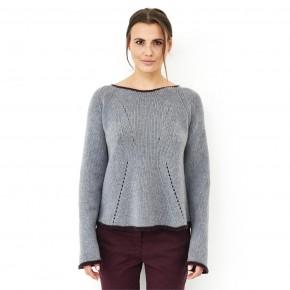 Pullover femme en laine mérinos Bio gris