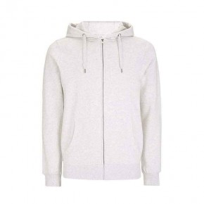 Veste à capuche zippée blanc chiné, solde