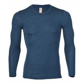 T-shirt manches longues mérinos et soie Engel