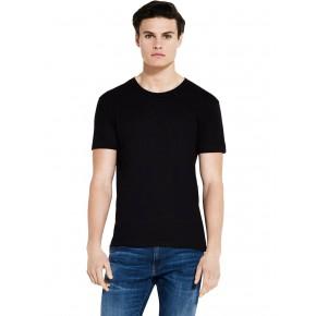 T-shirt homme en tencel noir et coton Bio EarthPositive