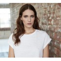 T-shirt femme en coton bio, manches retroussées EarthPositive