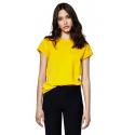 T-shirt jaune femme en coton biologique