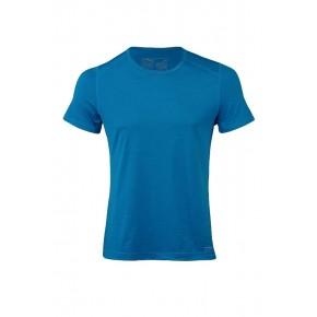 T-shirt Engel Sports homme laine mérinos Bio et soie bleu
