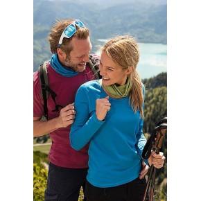 T-shirt femme à manches longues, laine mérinos et soie Engel Sports