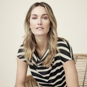 T-shirt femme rayé en lin bio et coton biologique LivingCraft