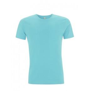 T-shirt Bio homme bleu turquoise