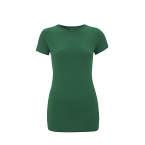 T-shirt vert en coton Bio femme