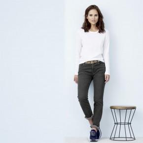 T-shirt à manches longues en coton Bio équitable, femme