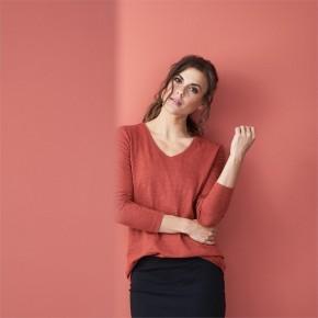 T-shirt manches longues femme en coton Bio, LivingCraft