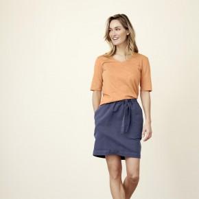 T-shirt femme manches aux coudes en coton Bio mandarine