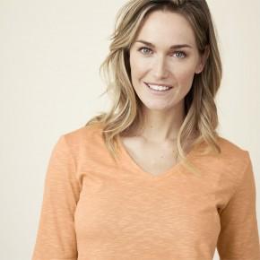T-shirt femme manches aux coudes en coton Bio