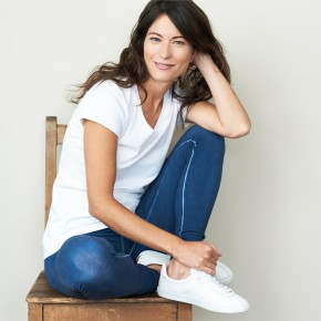 Leggings en coton Bio Living Craft bleu indigo
