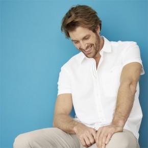 Chemise à manches courtes en lin et coton Bio