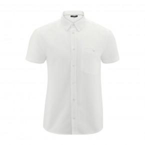 Chemise blanche à manches courtes en lin et coton Bio